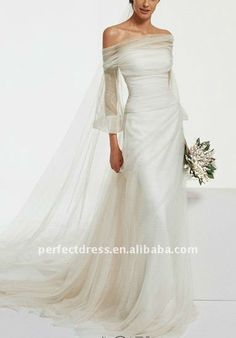 Love the muslin overlay and unique silhouette