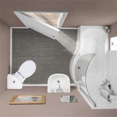 Tesco bathrooms Rydal suite corner toilet 1500