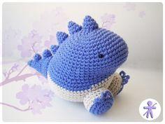 Crocheted by AmgurumisFanClub!!! Pattern: https://www.etsy.com/es/listing/54951424/patron-de-dinosaurio-kawaii-amigurumi?ref=shop_home_active_1