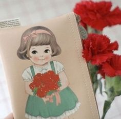 Kawaii-Paperdoll-Mate-Carnation-Printing-Pouch-Pencil-Case-Selly