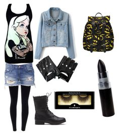 """""""Emo Outfit"""" by wolfnerd1 ❤ liked on Polyvore featuring Disney and Illamasqua"""