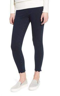 144642ce7dbc9 Lysse Scallop Hem Denim Leggings Denim Leggings, Scalloped Hem, Black  Jeans, Skinny Jeans