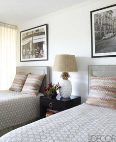 Guest Room: Los Angeles home of Ellen Rakieten, Designer Anne Coyle.