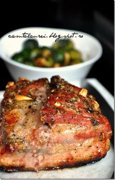 Piept crocant de porc la cuptor, o reteta  de pranz, delicioasa, surprinzator de simpla si de usor de preparat