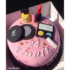 Cake design make up cake