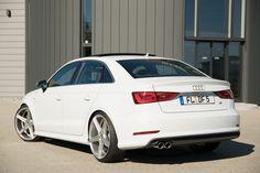 Audi A3 Limousine S line weiß auf 20 Zoll Felge mbDESIGN KV1 #Audi A3 Limousine Tuning #Carporn #Felgen, Gewindefahrwerk