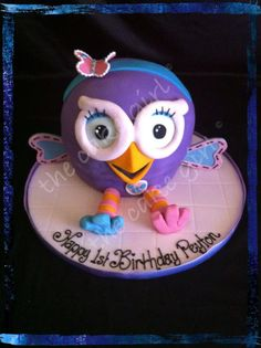 Hootabelle Cake by The Cake Girl, Brisbane, Queensland, Australia. You'll find this Cake Appreciation Society Member in our Directory at www.cakeappreciationsociety.com Brisbane Queensland, Queensland Australia, Owl Cakes, Cake Creations, Cakes And More, Birthday Cakes, Owls, Appreciation, Cake Decorating