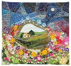 """I ❤ crazy quilting & ribbon embroidery . . . My Washougal Dream~ From """"Just a Little Bit Crazy"""" ~By Allie Aller"""