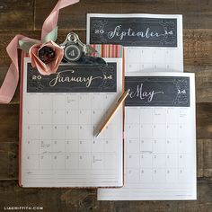 Free printable 2014 Calendar from @lia griffith