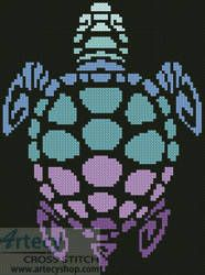 Mini Sea Turtle - cross stitch pattern designed by Tereena Clarke. Category: Mini.
