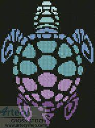 Mini Sea Turtle - cross stitch pattern designed by Tereena Clarke. Category: Mini.