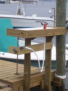 Help design my new fish cleaning station - The Hull Truth - Boating and Fishing Forum Fish Cleaning Table, Fish Cleaning Station, Lake Dock, Boat Dock, Small Space Interior Design, Lakefront Property, Lake Cabins, River House, Rustic Design