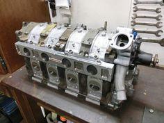 DIY 4 rotor engine.  Awesome work. Truck Repair, Ski Boats, Man Crafts, Rx7, Car Engine, Mechanical Engineering, Rotary, Car Parts, Motors