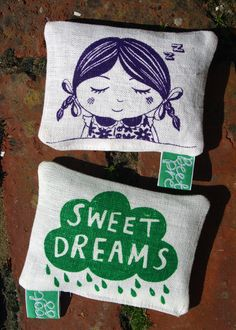 Genevieve organic lavender reversible pillow