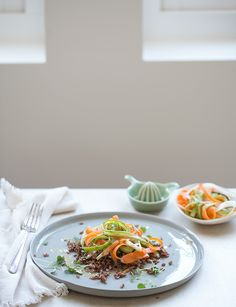 shaved asparagus + carrot salad with a toasted cuminvinaigrette - whats cooking good looking