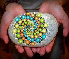 Colorful spiral mandala by lPrimrose.deviantart.com on @DeviantArt
