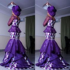 Style Inspiration; pic via @mutan_nigeria_ #purple #colorinspiration #instapost #gele #tradlook #style