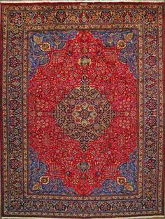 "Buy Tabriz Persian Rug 9' 11"" x 13' 1"", Authentic Tabriz Handmade Rug"