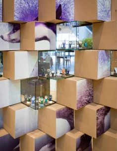 Triwa Pop-Up store made of cardboards and aquariums by mode:lina.  #triwa #popupstore #design