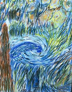 A Starry Night Study With Elementary School Students using Oil Pastels-Van Gogh