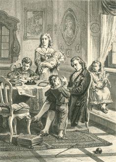 Heinrich Merté, Schiller im Kreise seiner Familie, Xylographische Anstalt R. Brendamour