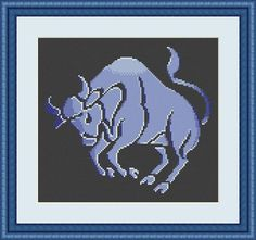 Check out this item in my Etsy shop https://www.etsy.com/listing/549323856/taurus-cross-stitch-pattern-taurus