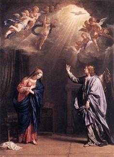 Annunciation Philippe De Champaigne | Annunciation by Philippe De Champaigne, 1644