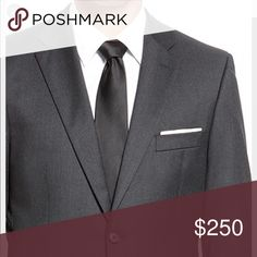 Hugo Boss Rossellini/Cinema Dark Grey Suit 42R 2 piece suit by Hugo Boss. The color is a dark grey almost black. 2 button jacket in 42R with matching pants. Hugo Boss Suits & Blazers Suits