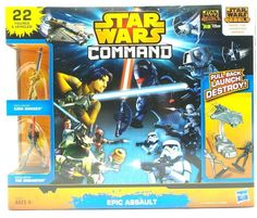 Star Wars Command Epic Assault 22pc Play Set Figures Vehicles Hasbro New #Hasbro