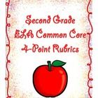This file contains a four point rubric for every second grade language arts standard and substandard as defined under Common Core.  Also included i...