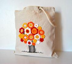 Canvas Tote bag Personalized canvas tote by Lemiecreazionidarte