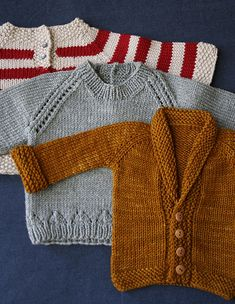Knitted sweaters for baby...fabulous colors!