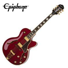 Epiphone Joe Pass Signature Emperor-II PRO Red Wine Hollow Body Electric Guitar #Epiphone