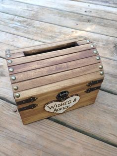 Wedding Advice Box Wedding Chest Wishing Well by CountryBarnBabe, $35.00