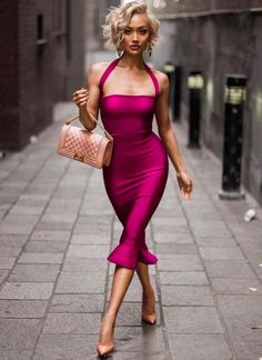My diva bandage dress-fuchsia - posh fashion girls bodycon dress, feminine, Look Fashion, Fashion Beauty, Girl Fashion, Fashion Outfits, Womens Fashion, Fashion Tips, Fashion Trends, Fashion Websites, Fashion Ideas