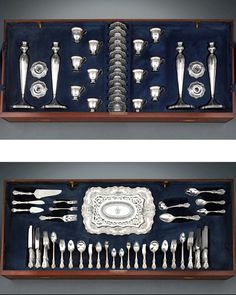 Early 19th century silver flatware sets