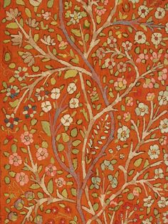 "Antique Silk Embroidered Kirman Suzani, 2'11"" x 8'9"" 