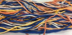 Medley T-shirt Yarn, Blue, Summer Sunset & Speckled Rainbow from Upcycled cotton T-shirts by SavedbyKate on Etsy