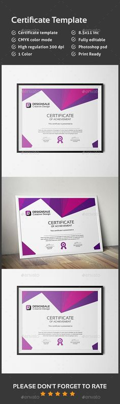 Certificate Template PSD. Download here: http://graphicriver.net/item/certificate/14343545?ref=ksioks