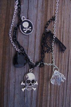 Pirate Skull and Crossbones Layered by BadGirlForeverJewels, $19.99