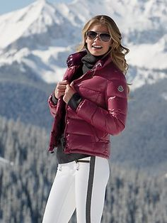 Great color! #moncler (burgundy, size 1)