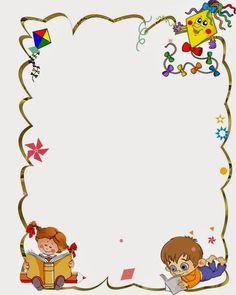 school frames and borders Borders For Paper, Borders And Frames, Page Boarders, School Border, Kindergarten Portfolio, Boarder Designs, School Frame, Kids Background, School Clipart