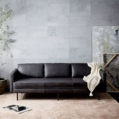 Tips That Help You Get The Best Leather Sofa Deal. Leather sofas and leather couch sets are available in a diversity of colors and styles. A leather couch is the ideal way to improve a space's design and th Apartment Furniture, Sofa Furniture, Furniture Design, Furniture Stores, Furniture Websites, Cheap Furniture, New Living Room, Living Room Sofa, Bedroom Sofa