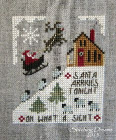 "Homespun Elegance's ""Santa Arrives Tonight"""