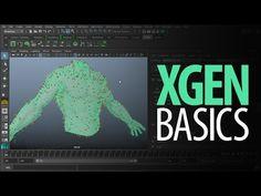 Maya 2016 tutorial : Basics of XGEN, how to create Hair, Fur, Grass etc. - YouTube