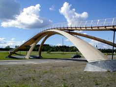 Da Vinci Bridge. Norway. Construction headed by Norwegian artist Vebjørn Sand. Opened 2001.