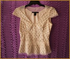 Marc Jacobs Blouse Size 4 Floral Cap Sleeves Clubwear Casual