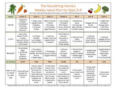 FREE weekly whole food meal plans that include links to more than 40 of the delicious healthy recipes featured.