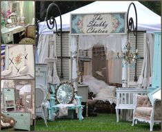 Compliments of Booth Crush on FB and The Shabby chateau Craft Fair Displays, Store Displays, Display Ideas, Booth Displays, Booth Ideas, Craft Booths, Boutique Displays, Stall Display, Craft Markets