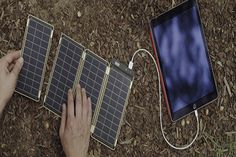It's never been easier to charge your devices while on the go with Solar Paper, a solar charger that gives your electronics that extra boost